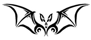 Tribal bat by DesignTheSkinYourIn