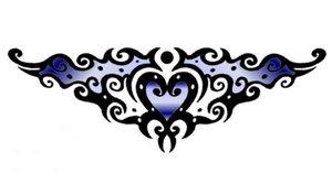 Tattoo heart fun blue by DesignTheSkinYourIn