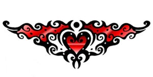 Tattoo heart fun red by DesignTheSkinYourIn