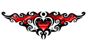 Tattoo heart fun red by DesignTheSkinYourIn