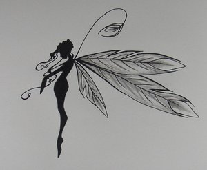 Pretty feathered fairy by designtheskinyourin on deviantart for Skull fairy tattoos