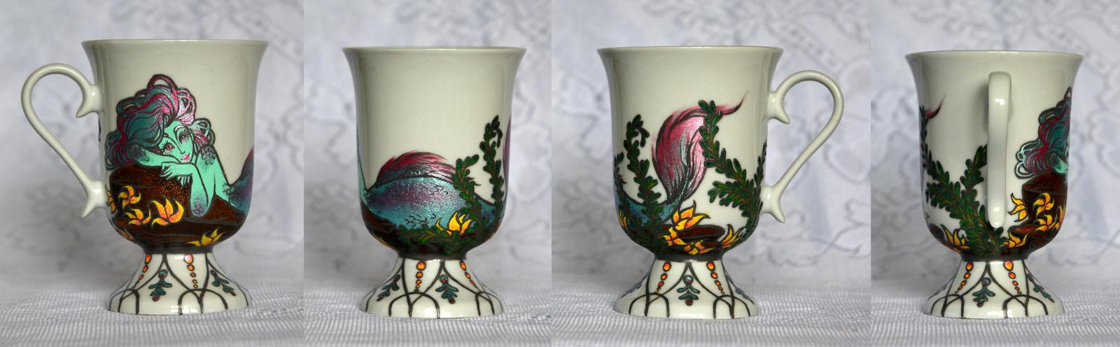 Pearlescent Mer Mug by AucoinArt