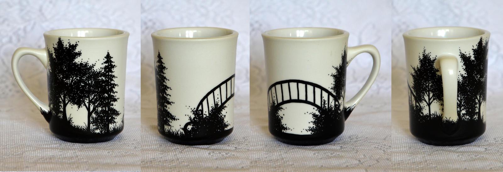 Forest Scene Mug by AucoinArt