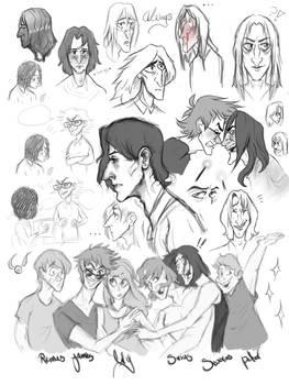 Young Severus sketchdump