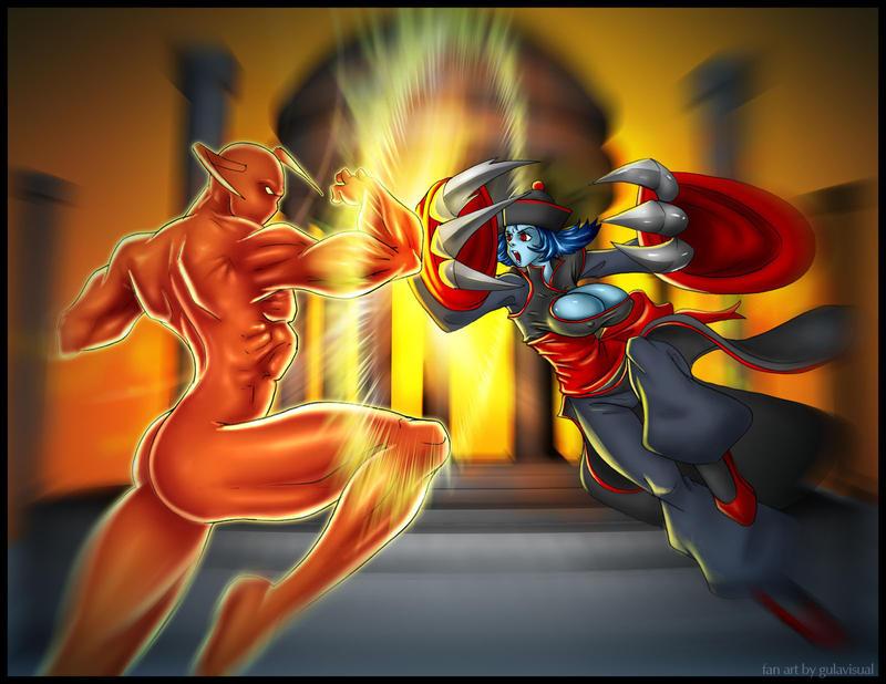 Hsien-ko vs Pyro by gulavisual