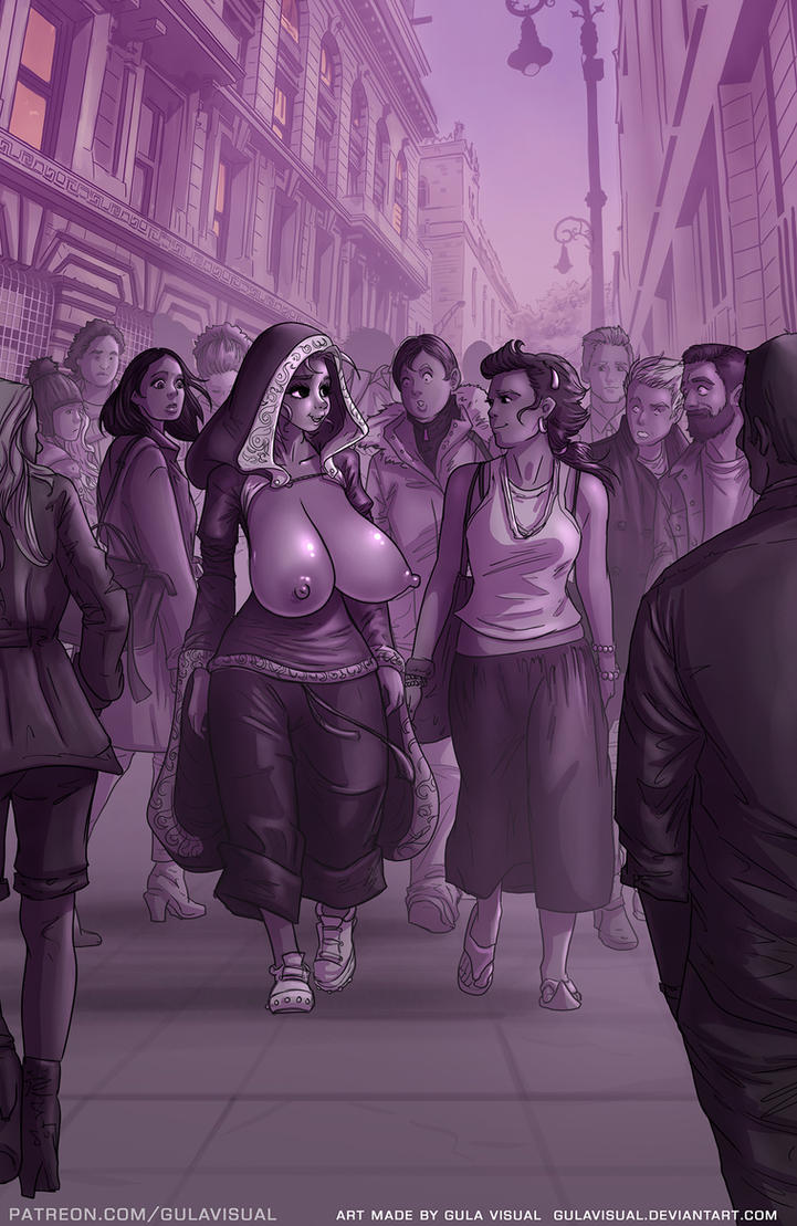 Priestess and Crowd by gulavisual