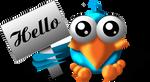 'Hello' twitter bird