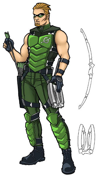 Green Arrow Redesign by JoelRCarroll