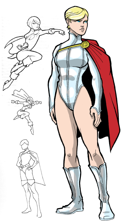 Power Girl Sketches by JoelRCarroll