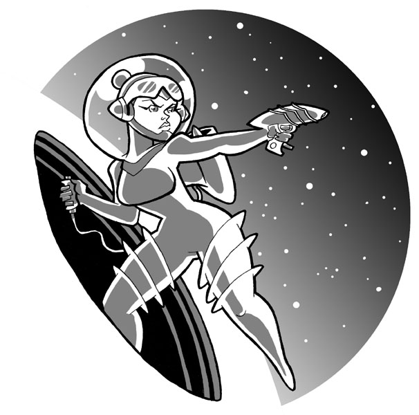 A spacegirl by JoelRCarroll