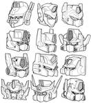 12 Optimus Prime-Convoy heads.