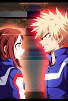 Uraraka vs. Bakugo - Boku no Hero Academia by StayAlivePlz