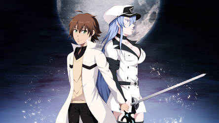 COMMISSION: Tatsumi x Esdeath by StayAlivePlz