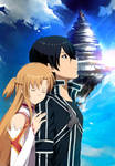 Asuna x Kirito - Sword Art Online (commission) by StayAlivePlz