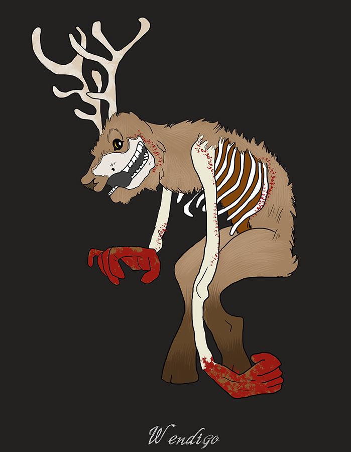 Halloween Monsters: Wendigo by elephantblue
