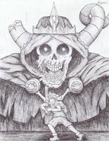 Finn and The Lich Sketch by KamiSulit