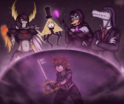 [Commission] Kingdom Hearts TV Disney Villains by KamiSulit