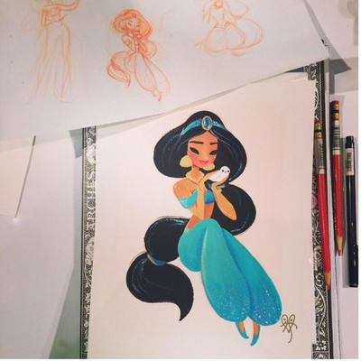 Another princess Jasmine drawing by lianaChan04 on DeviantArt