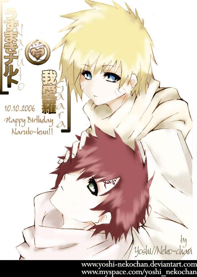Imagen Siguiente... - Página 2 Happy_Birthday_Naruto__NaruGaa_by_yoshi_nekochan