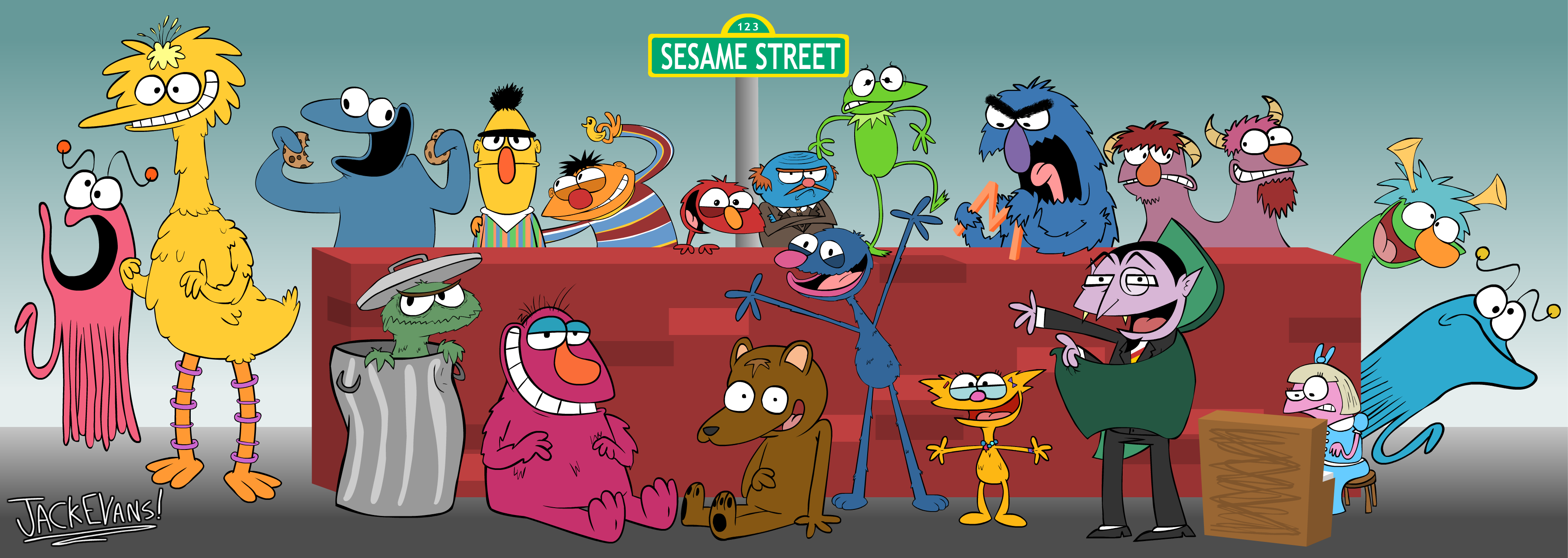 Cartoon Characters Named Zoe : Directions to sesame street by moon manunit on deviantart