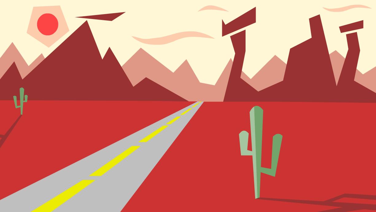 Looney tunes desert background - photo#23