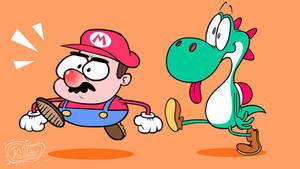 Mario And Yoshi by Moon-manUnit-42
