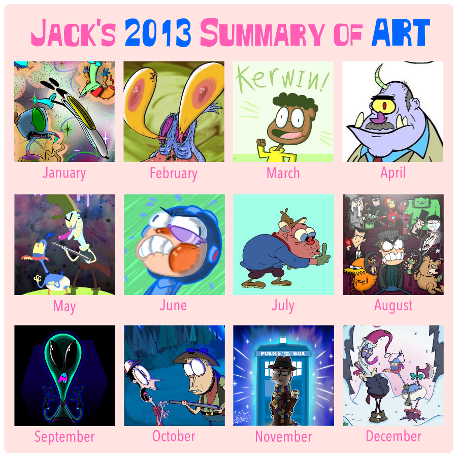 2013 Art Summary by Moon-manUnit-42