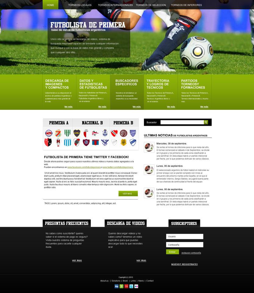 Template Soccer By Webimpact On DeviantArt - Soccer website templates