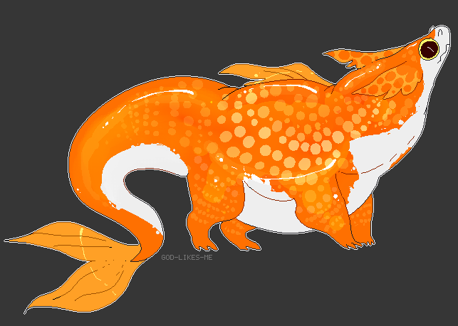 pearlscale goldfish dragon by GOD-LIKES-ME on DeviantArt
