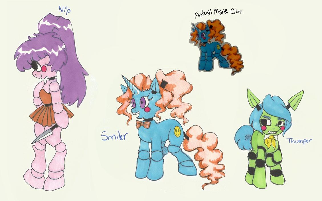[OPEN] FNAF Pony Batch by Mashi-Adopts