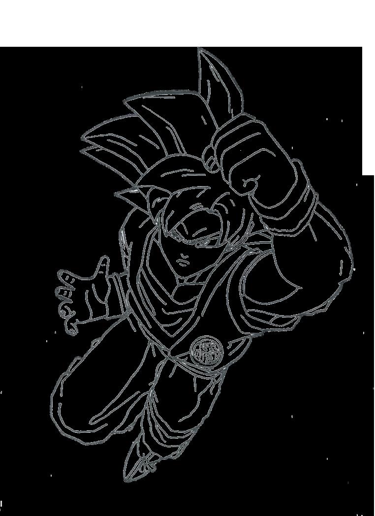 Goku super saiyan god lineart by toni987 on deviantart for Super saiyan coloring pages