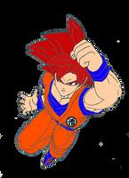Goku Super Saiyan God (Colored) by toni987