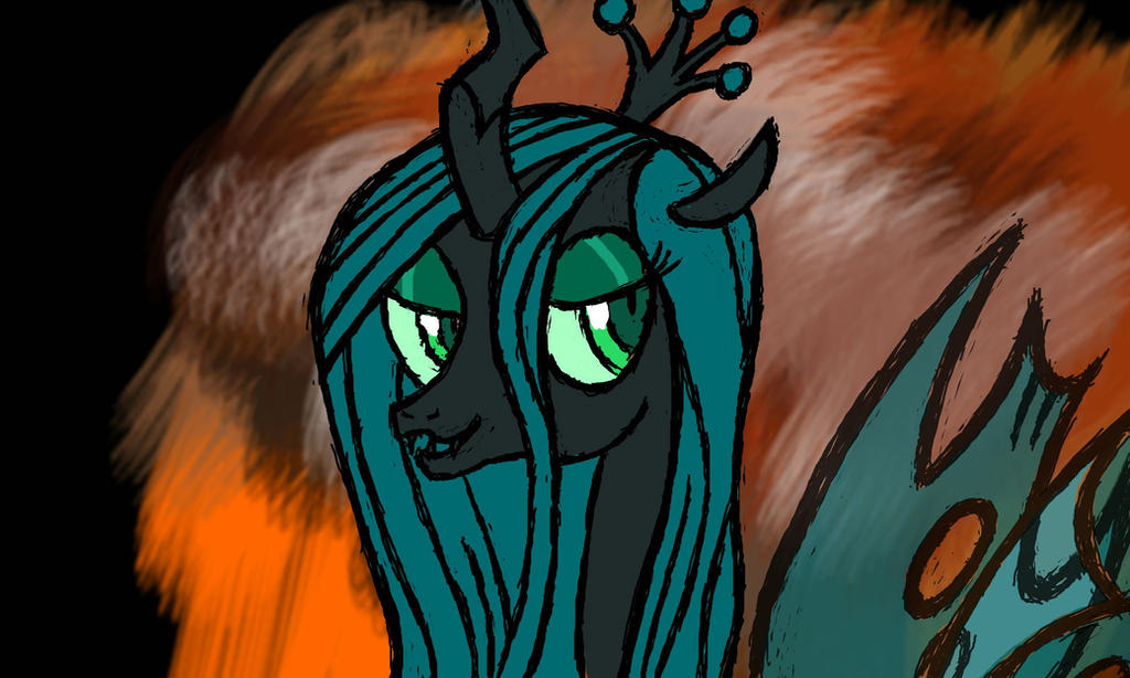 Queen chrysalis colors 3d by bryastar on deviantart for Queen chrysalis coloring pages