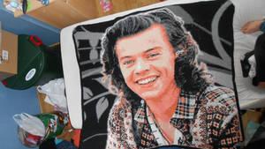 Harry Styles Crocheted Portrait