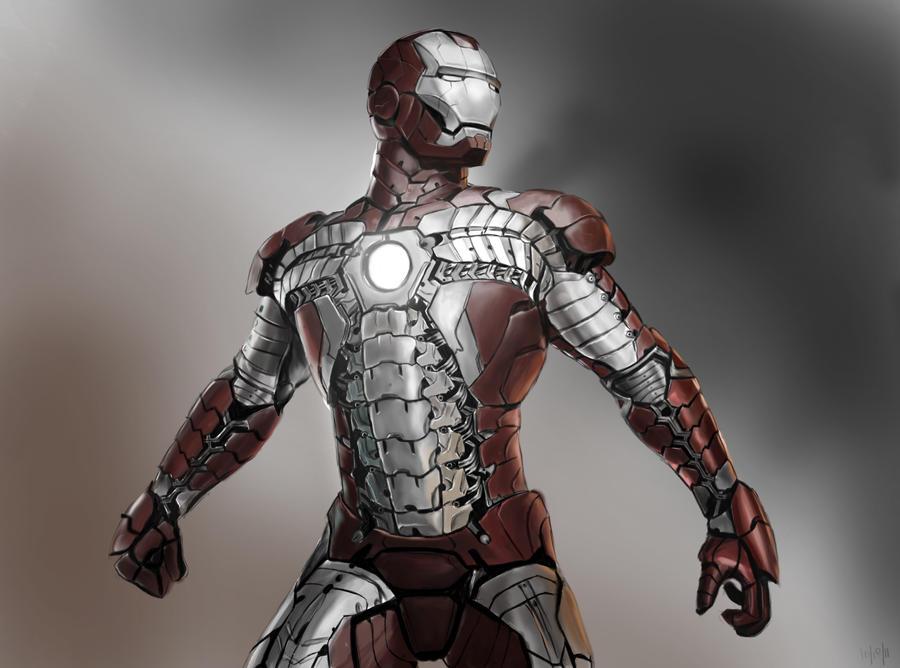 Iron Man MK V by MkFlrs on DeviantArt  Iron Man MK V b...
