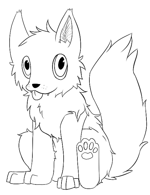 Chibi Anime Wolf Coloring Pages Chibi Wolf Coloring Pages