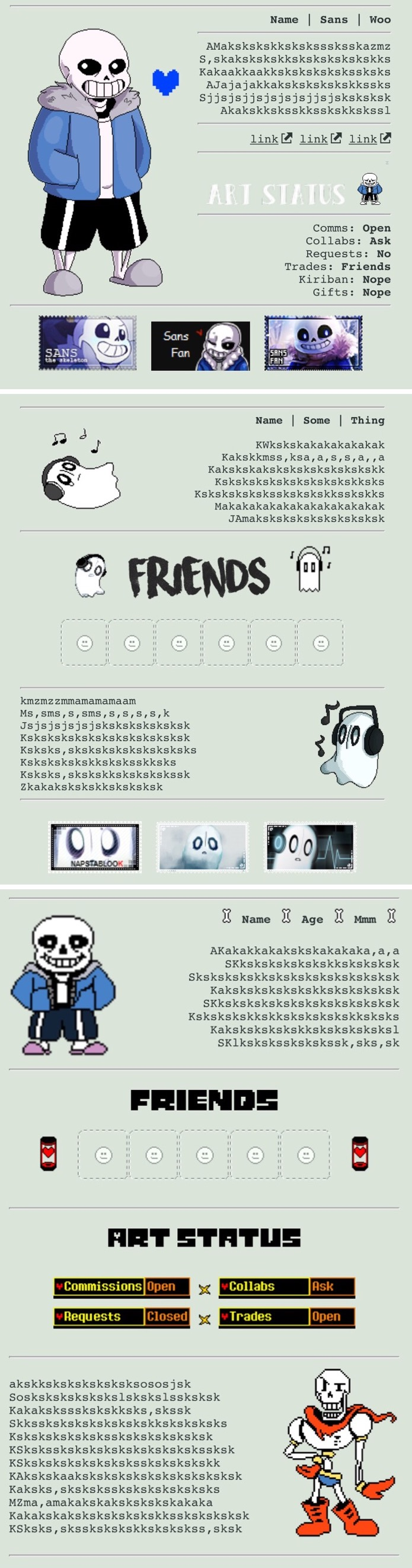 Undertale code pack #3 by My-test-accountt