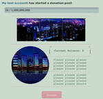 City at night pointbox/donation pool code