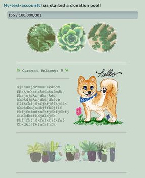 Doggos and Plants Pointbox/Donation Pool Code