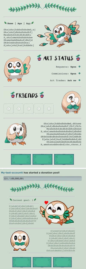 Rowlet Custombox and Pointbox Codes