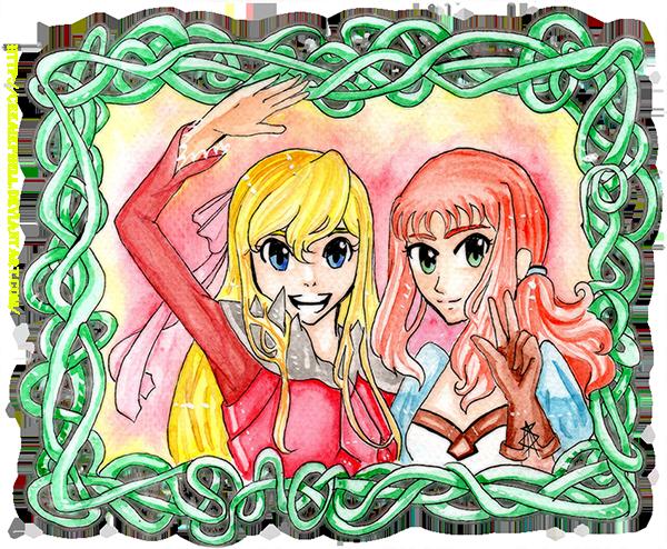 COM: Oka and Kamiko by CeeAiEphEll