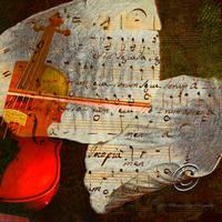 The Red Violin by SharonLeggDigitalArt