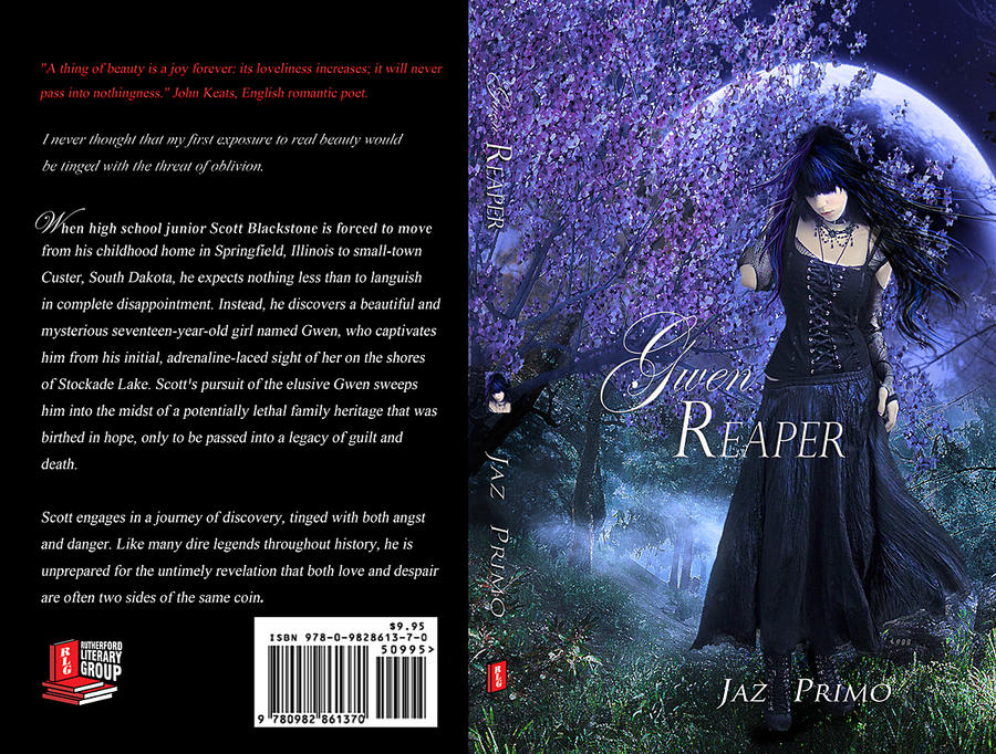 Best Book Cover Art ~ Gwen reaper book cover art by sharonleggdigitalart on