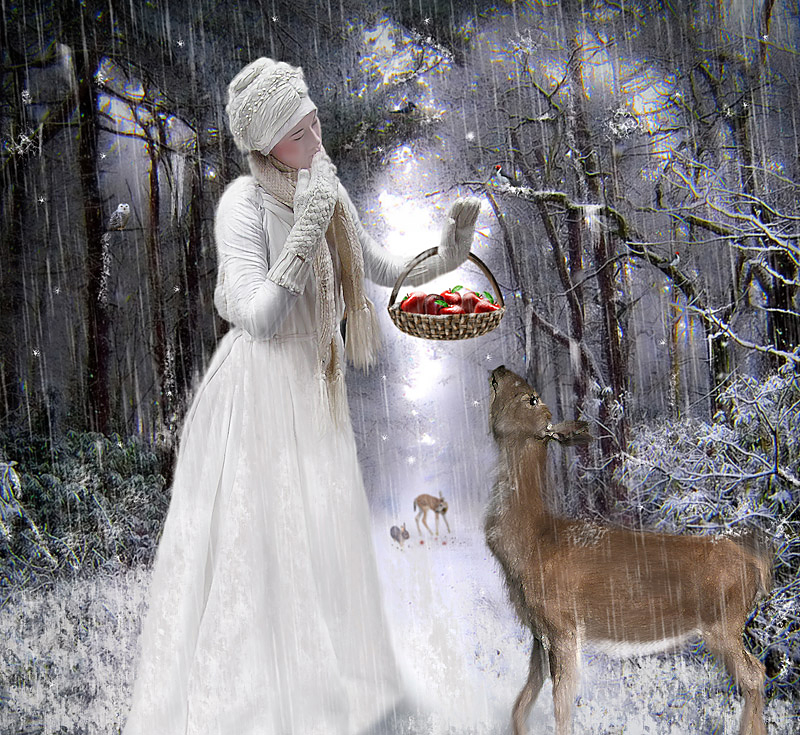 Winter Postcard by SharonLeggDigitalArt