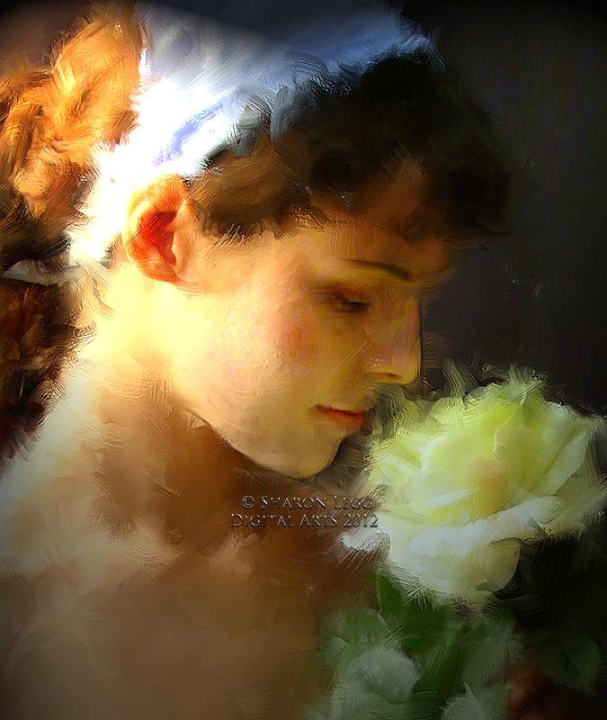 The Flower Girl by SharonLeggDigitalArt
