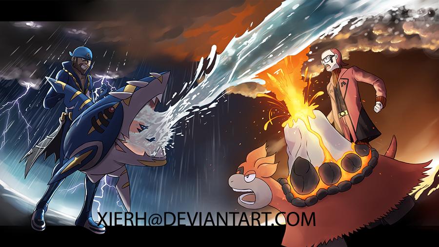 ORAS Magma vs Aqua by XieRH