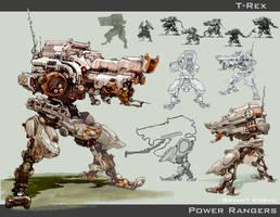 T-rex by Peachlab