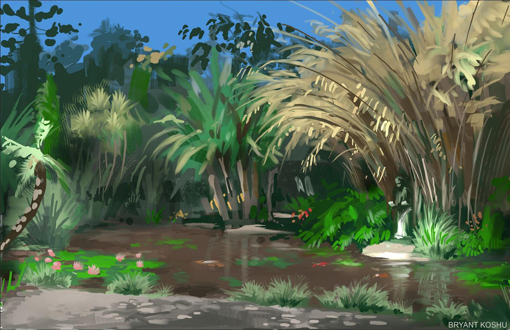 Plein air painting practice by Peachlab