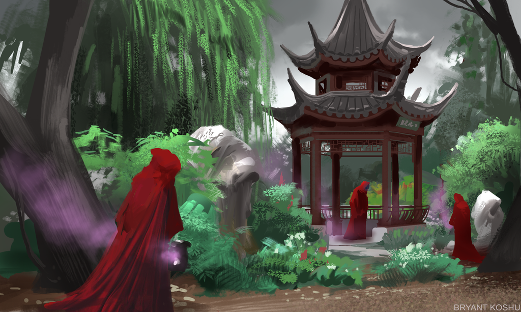 red robe speed painting by Peachlab
