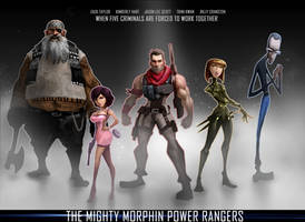 The mighty Morphine Power Rangers Human by Peachlab